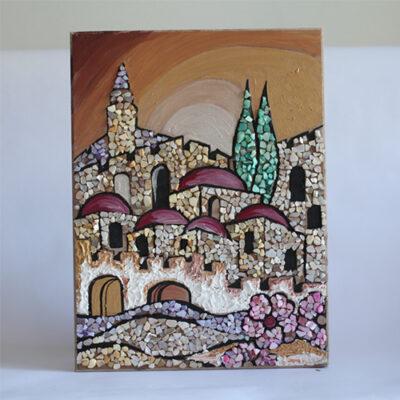 פסיפס שברי צדפות ירושלים