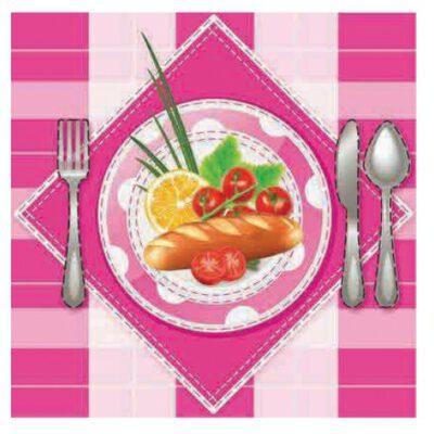 רקמת מפית אוכל