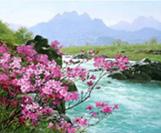 תמונה עפי מספרים פרחים וים