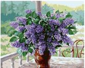 תמונה עפי מספרים מקט 115 זר פרחים סגול