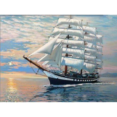 ספינה בים - קנוס לצביעה