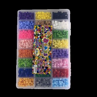 חרוזי גיהוץ לפי צבע קופסת חלוקה יצירה