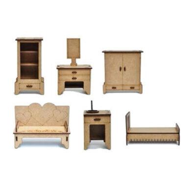 6 רהיטי מיניאטורות